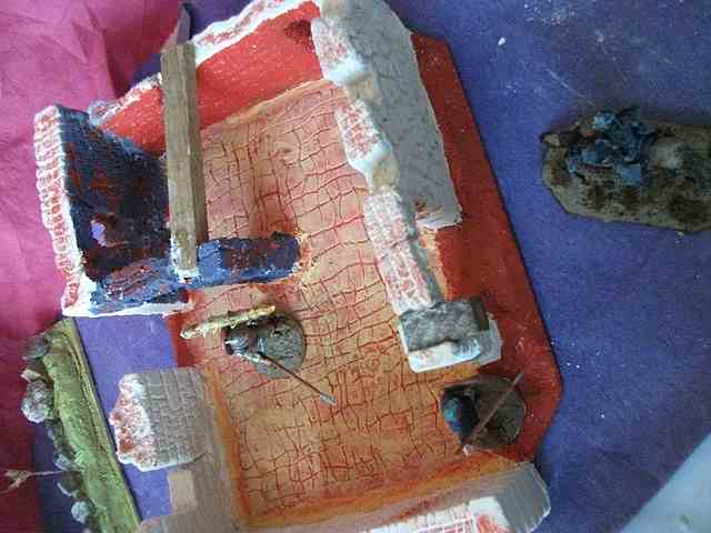 [Tuto] Remparts en plâtre - Moule en polystyrène - Page 2 MuretPlatreMaison_0031