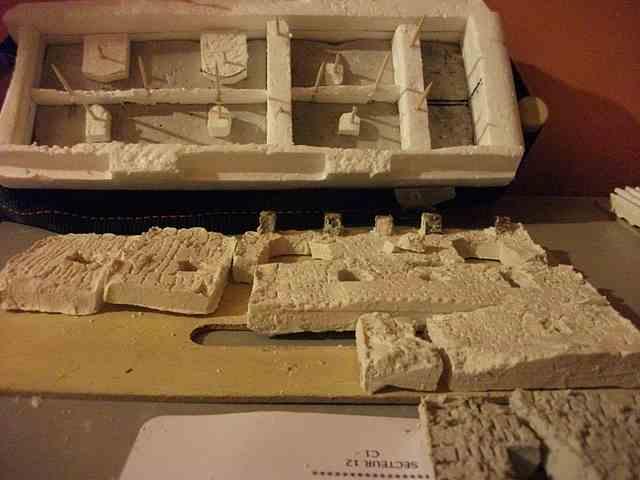[Tuto] Remparts en plâtre - Moule en polystyrène - Page 2 MuretPlatreMagMedieval_0009
