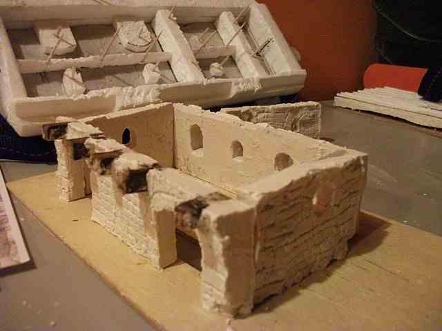 [Tuto] Remparts en plâtre - Moule en polystyrène - Page 2 MuretPlatreMagMedieval_0013
